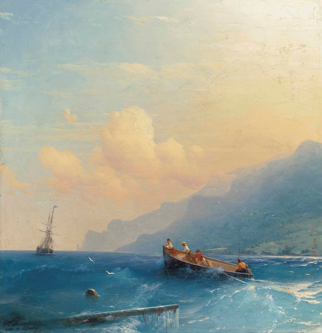 Ivan Aivazovsky (1817-1900) Searching for survivors